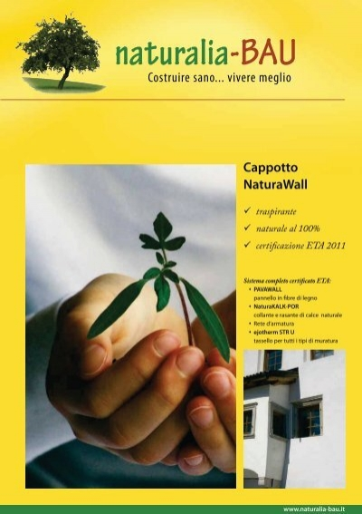 Cappotto naturawall naturalia bau for Naturalia bau prezzi