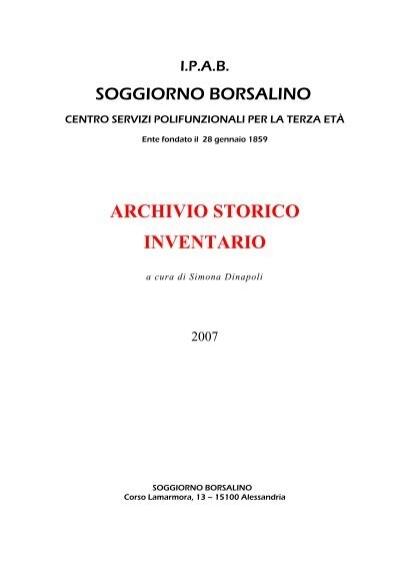 ARCHIVIO STORICO INVENTARIO - Soggiorno Borsalino 78c1679e9676