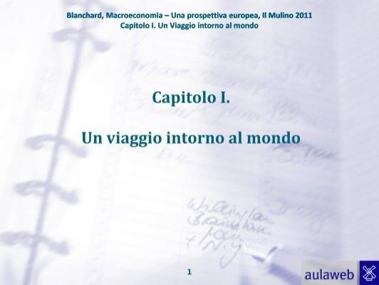 Macroeconomia Una Prospettiva Europea Pdf
