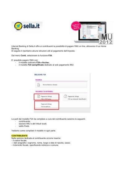 Manuale Pagamento IMU F24   Gruppo Banca Sella