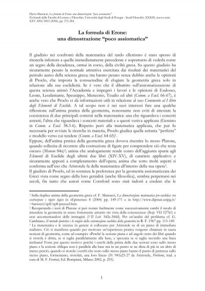 Formula di datazione matematica