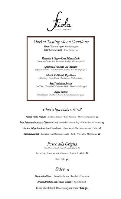 Chefs Specials 0608 Pesce Alla Griglia Sides 12 Market Fiola