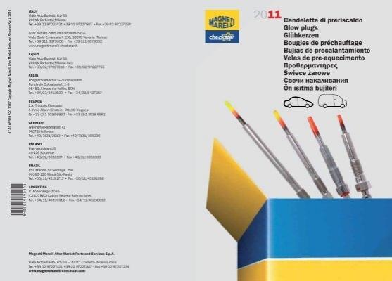 TD Nr 4 CANDELETTE FIAT FIORINO 1700 D