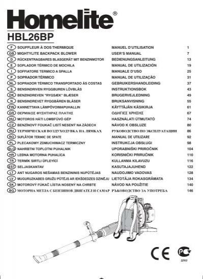 Homelite Hlt26cdy manual