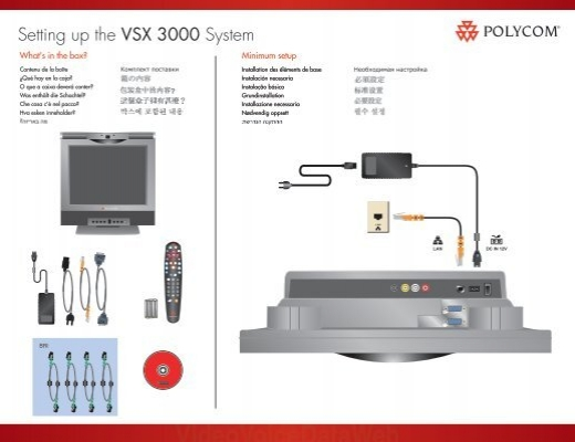 setting up the vsx 3000 system polycom support rh yumpu com Polycom VSX 7000 Manual Polycom VSX 7000 Remote