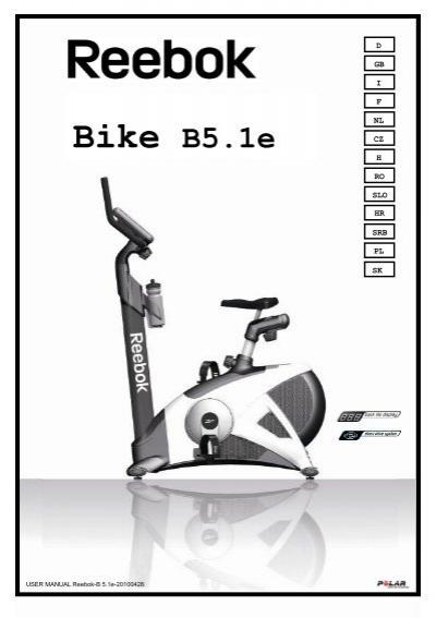 02983641bfa Reebok Fitness Bike Images. Roger Black Gold Exercise Bike Instruction  Manual PDF