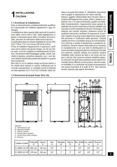 1 installazione caldaia 1 - Installazione scaldabagno a gas normativa ...