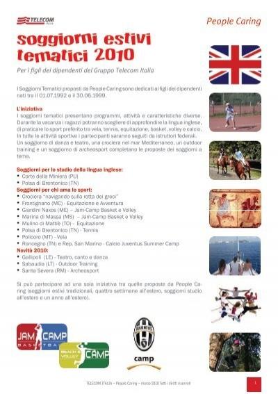 soggiorni estivi tematici 2010 - Peoplecaring.telecomitalia.it ...