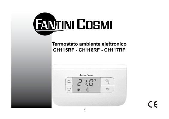 Istruzioni ch115 rf fantini cosmi for Termostato fantini cosmi ch110 istruzioni