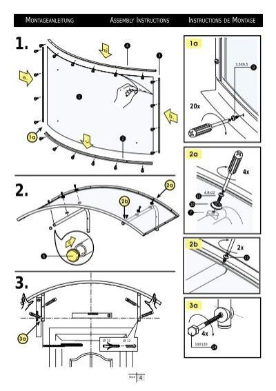 1 2 3 Montageanleitung