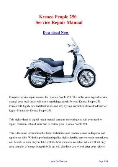 Download Kymco People 250 Service Repair Manual
