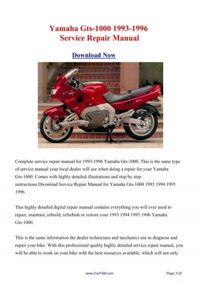 download yamaha gts 1000 1993 1996 service repair manual rh yumpu com