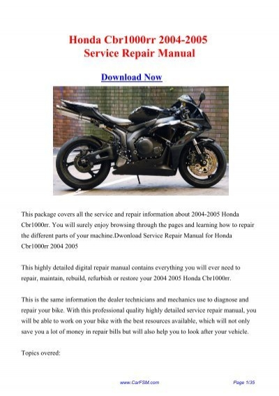 download 2004 2005 honda cbr1000rr workshop repair manual rh yumpu com 2007 cbr1000rr service manual pdf 2007 cbr1000rr owners manual