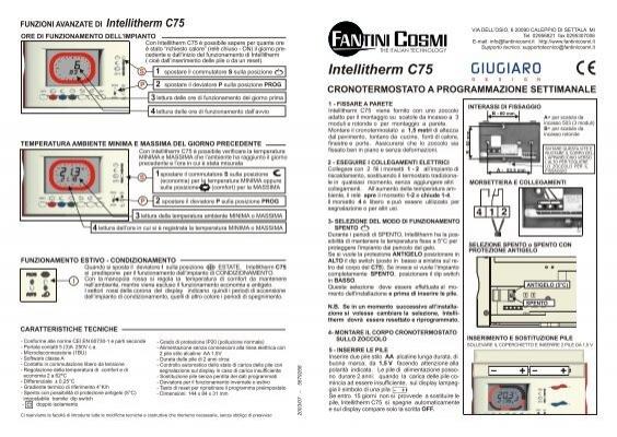 istruzioni c75 fantini cosmi