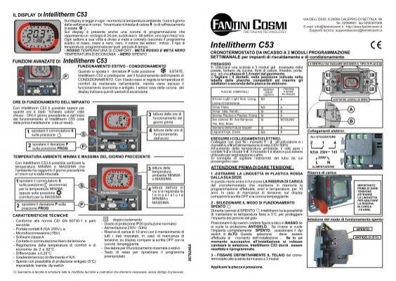Istruzioni c53 fantini cosmi for Istruzioni termostato fantini cosmi