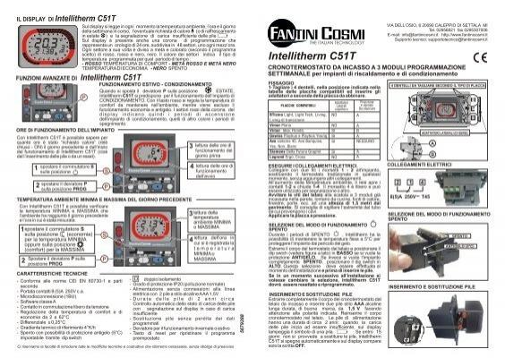 Istruzioni c51t fantini cosmi for Istruzioni termostato fantini cosmi