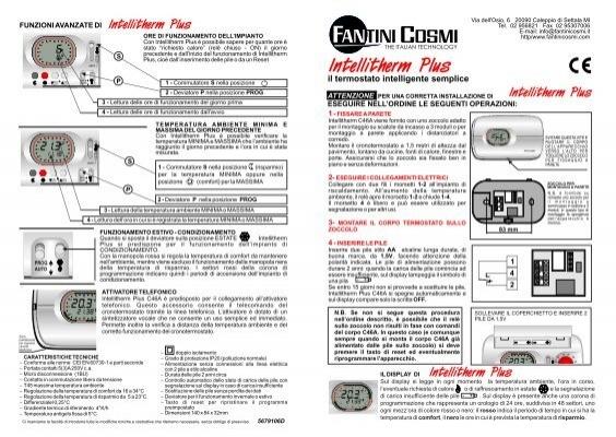 Istruzioni c 46a fantini cosmi for Istruzioni termostato fantini cosmi