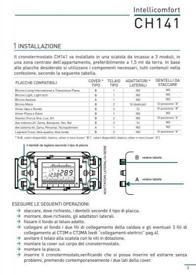 Intellicomfort 2 collegam for Cronotermostato fantini cosmi ch141