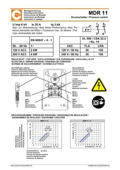 mdr 11 pressure control wiring diagram