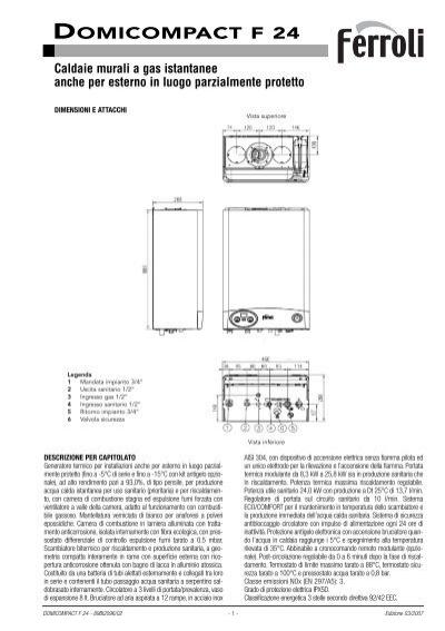 Caldaia ferroli domicompact f 24 certened for Ferroli domicompact