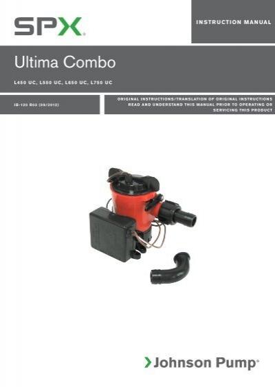 ultima combo johnson pump rh yumpu com Instruction Manual Instruction Manual