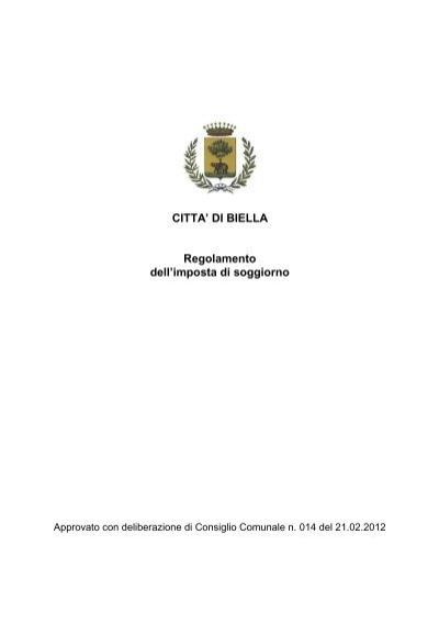 Stunning Regolamento Imposta Di Soggiorno Ideas - Idee Arredamento ...