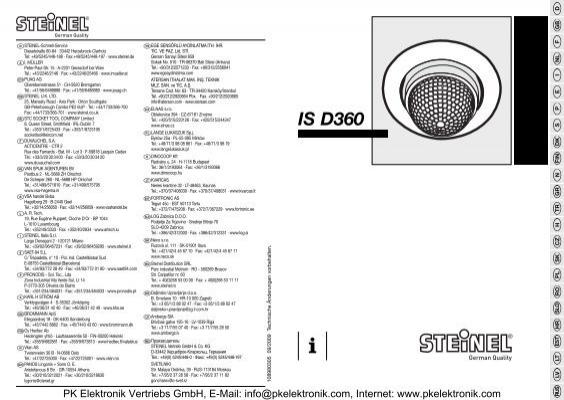 bedienungsanleitung steinel bewegungsmelder is d360. Black Bedroom Furniture Sets. Home Design Ideas
