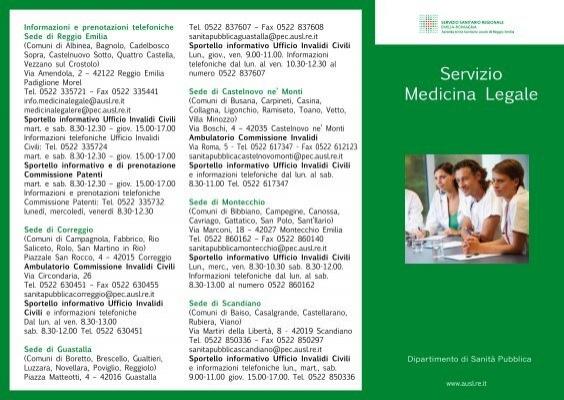 Servizio Medicina Legale Azienda Usl Di Reggio Emilia