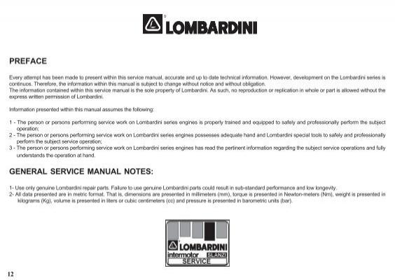 lombardini 15ld 500 series engine service repair workshop manual download