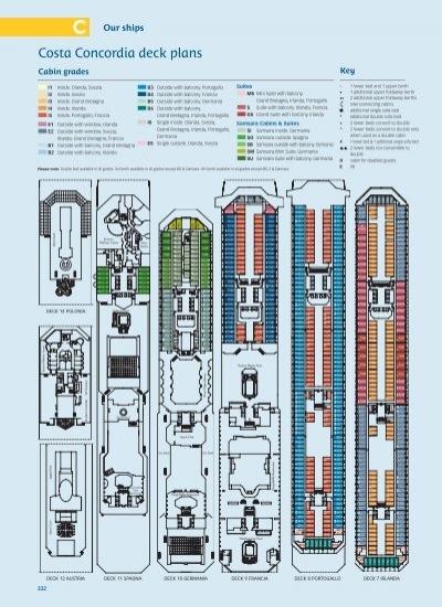 Costa Concordia deck plans - Boat Design Net