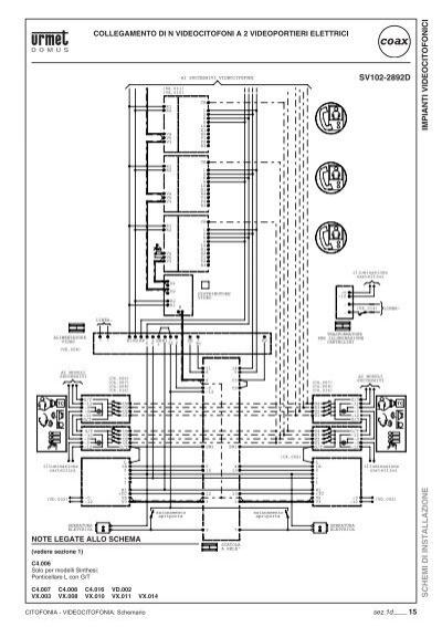 Schema Collegamento Elvox 131 : Impianti videocitofonici