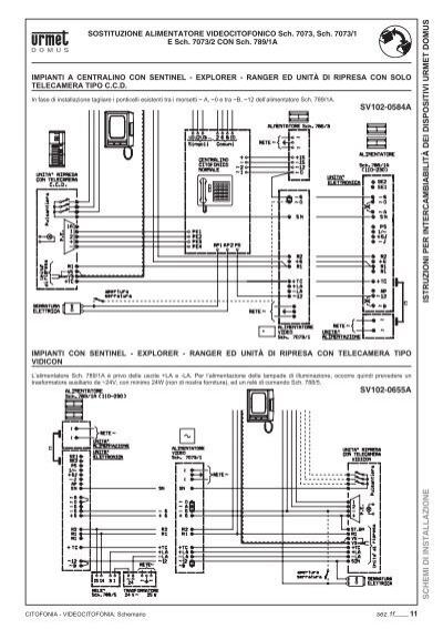 Schema Elettrico Urmet 786 15 : Istruzioni per intercambi
