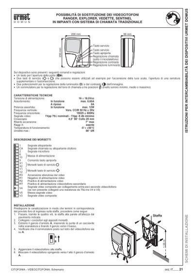 Istruzioni per intercambi for Schema videocitofono urmet