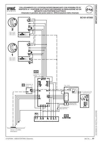 Schemi Elettrici Citofoni Urmet : Schema di collegamento citofono urmet domus sostituzione