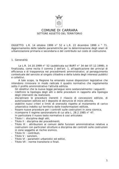 Costo Di Costruzione Comune Di Carrara