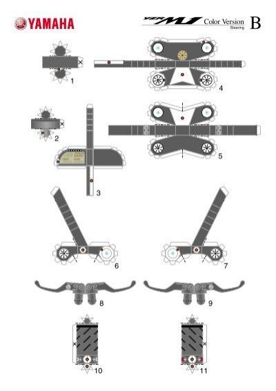 Как из бумаги сделать мотоцикл схема 144