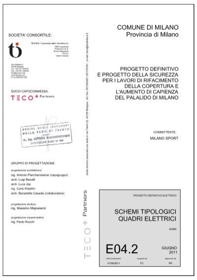 Schemi Elettrici Free : E schemi tipologici impianti elettrici milanosport