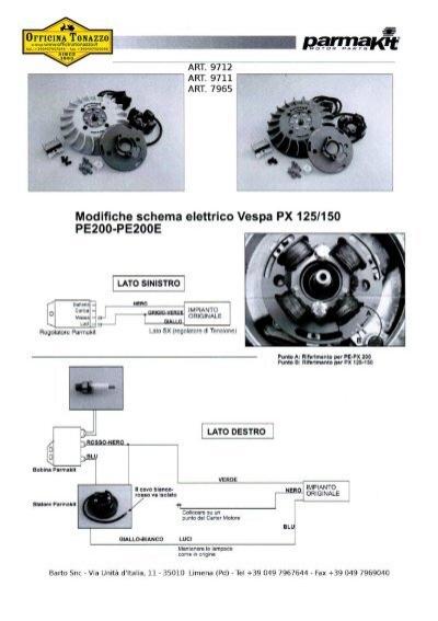 Schema Elettrico Vespa Et3 : Istruzioni modifiche schema elettrico vespa px