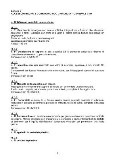 Accessori Bagno Ospedali.Lotto 3 Arredi Ed Accessori Per Bagno Ospedali Dei Colli