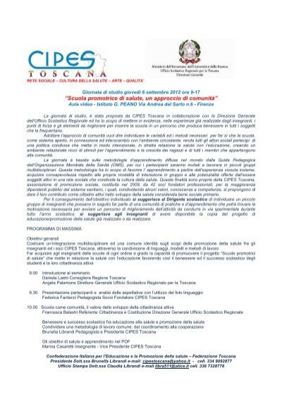 Informazioni E Programma Ufficio Scolastico Regionale Per La
