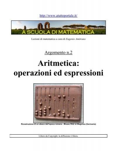 Operazioni Ed Espressioni Aritmetiche Lezione N2 Atuttoportale