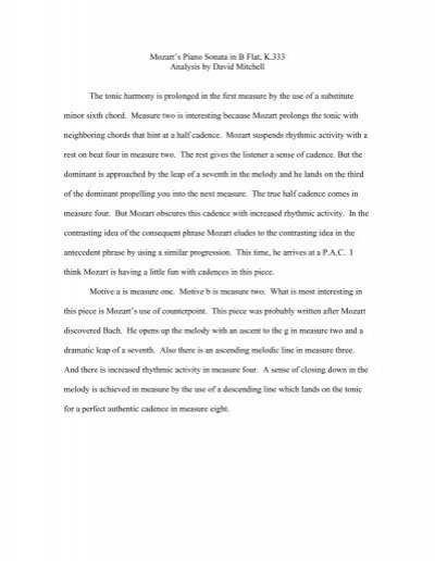 mozart k 333 analysis
