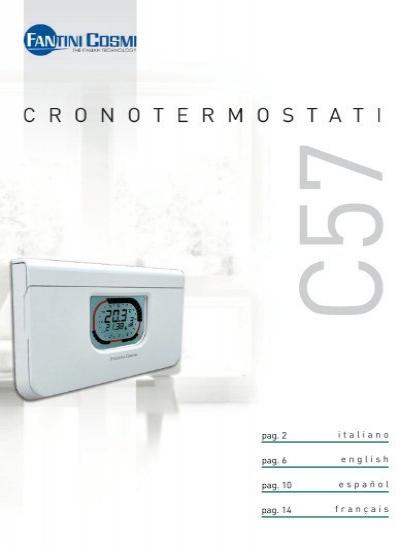 Intellitherm c57 istruzioni fantini cosmi for Fantini c57