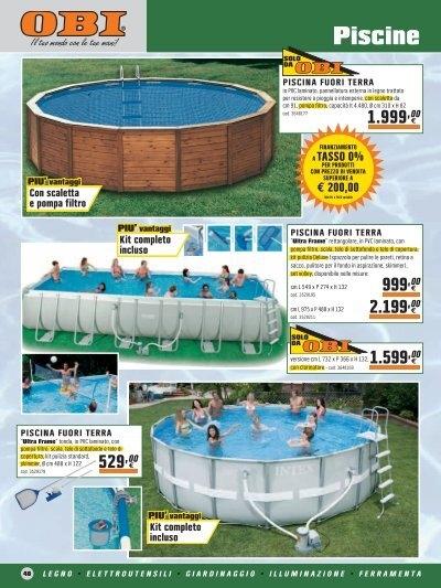 Giardino obi piscine e accessori for Accessori piscine