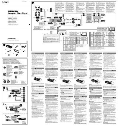 sony cdx gt575up wiring diagram sony cdx gt5 10 wiring mifinder co