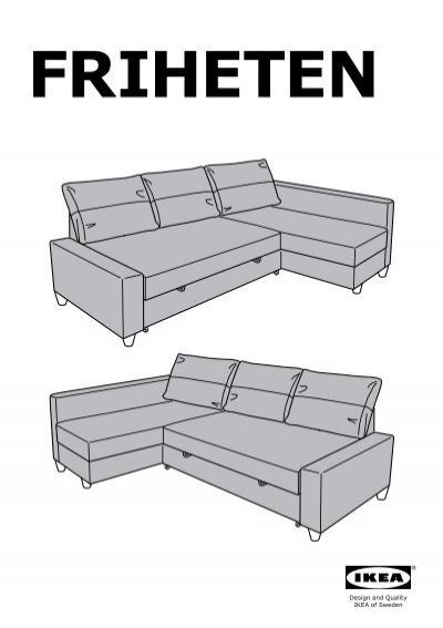 Ikea friheten divano letto angolare 80262366 for Divano letto ikea angolare