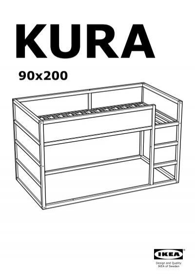Ikea kura letto reversibile 80253809 istruzioni di montaggio - Istruzioni letto ikea ...