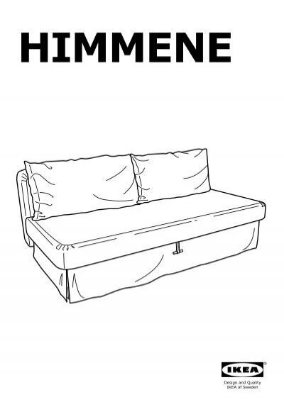 Ikea himmene divano letto a 3 posti 30300714 - Montaggio divano ikea ...