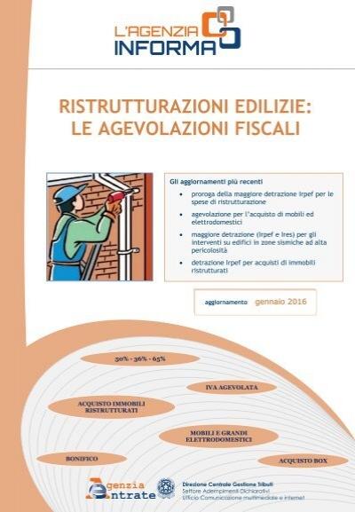 Ristrutturazioni edilizie le agevolazioni fiscali for Legge 104 agevolazioni fiscali elettrodomestici