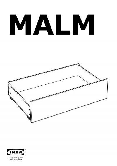 Ikea malm contenitore struttura letto alta 80249539 istruzioni di montaggio - Istruzioni letto ikea ...